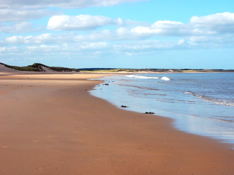 Sand dunes and beach at Druridge Bay, Northumberland, where a huge new opencast coal mine is planned. Photo: Fiona in Eden via Flickr (CC BY-NC).
