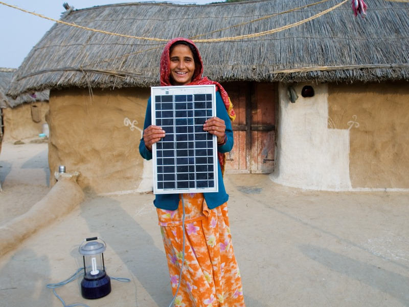 A female solar engineer from Rajasthan, India - just one of many who could have benefitted from the work to create the National Solar Mission. Photo: Knut-Erik Helle via Flickr (CC BY-NC 2.0)