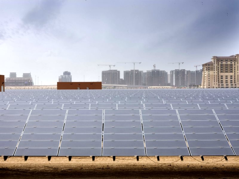 10 MW Solar PV Power Plant in Masdar City, Abu Dhabi, where solar is already the lowest cost form of electricity generation. Photo: Masdar Official via Flockr (CC BY-NC-SA).