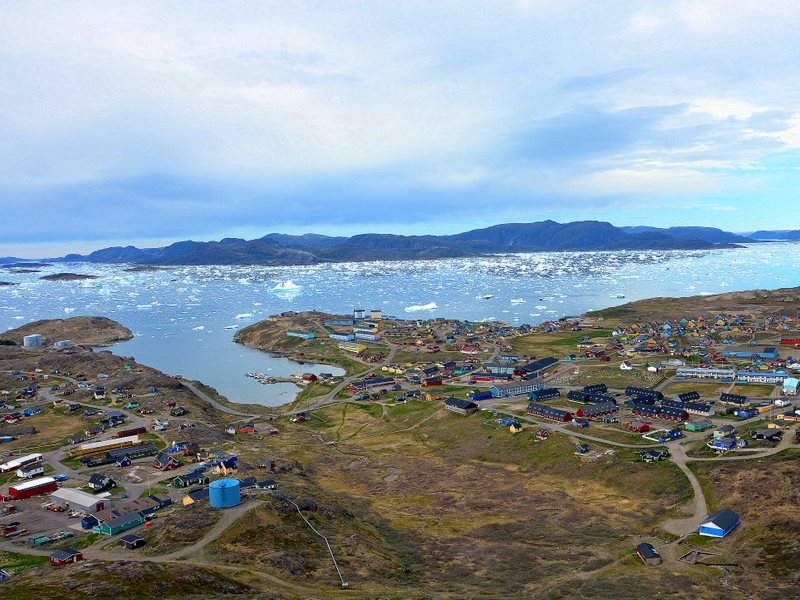 View south from the mine site to Narsaq below. Photo: Bill Williams.