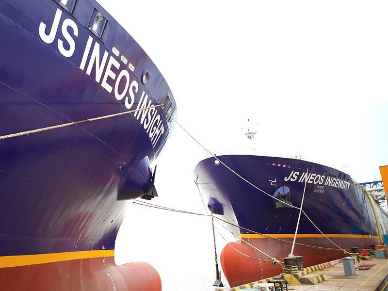 Ineos gas tanker at port. Photo: ineos.com.