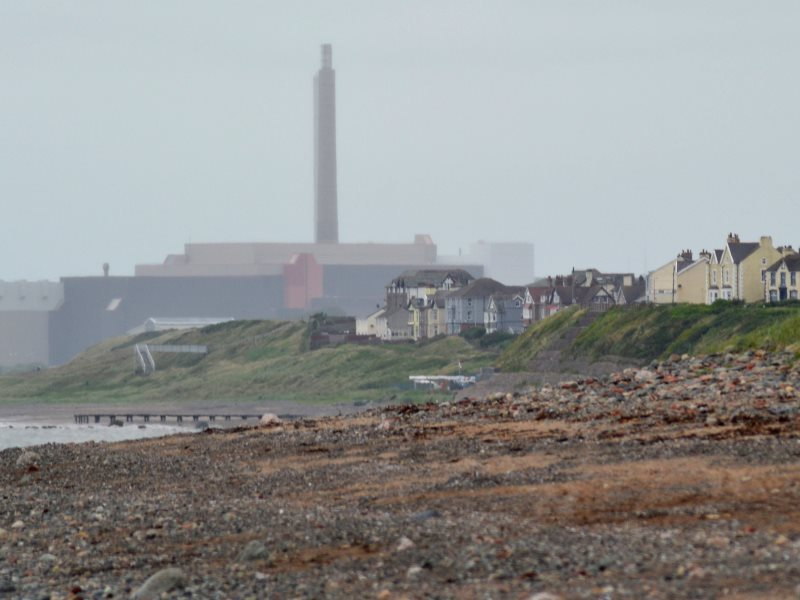 The Sellafield nuclear site in Cumbria, UK, seen from Drigg Beach. Photo: Ashley Coates via Flickr (CC BY-SA).