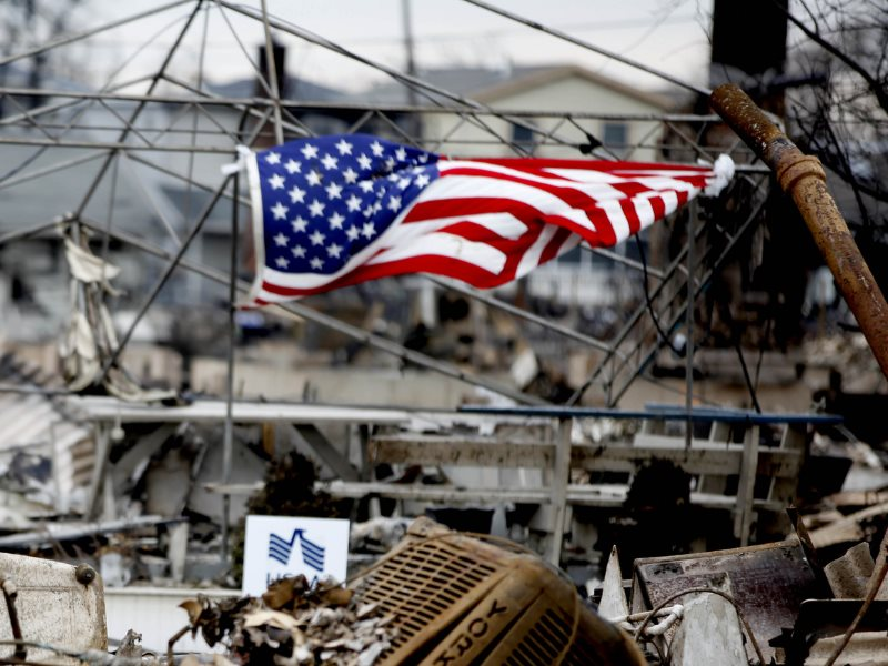 Aftermath of Hurricane Sandy at Breezy Point, NY, 11th July 2012. Photo: Lance Corporal Scott Whiting, Marine Corps Base Camp Lejeune via DVIDSHUB on Flickr (CC BY).