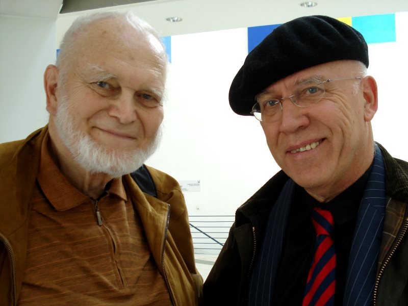 Professor Yablokov (1933-2017) with the author, Chris Busby. Photo: ECRR.