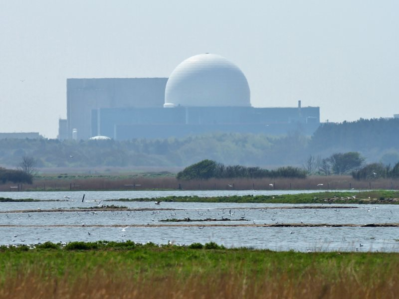 The Sizewell B nuclear plant rises above RSPB's Minsmere nature reserve. Now, where's Sizewell C's 1,600 m3 a day of extra mains water demand going to come from? Photo: Tony Sutton via Flickr (CC BY-NC-ND).