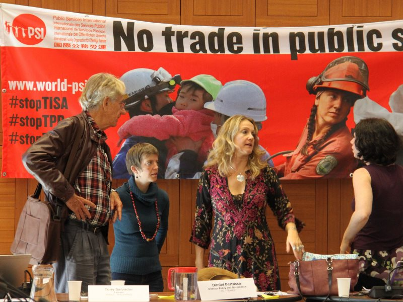 Opposing TISA: Global Trade in Services Strategy Meeting, October 2014. Photo: Public Services International via Flickr (CC BY-NC).