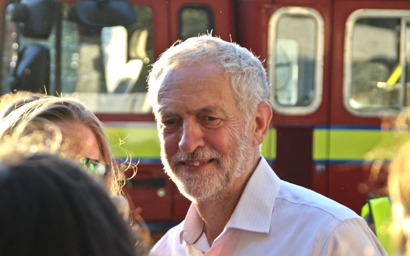 Jeremy Corbyn at a political rally in North London, 15th August 2016. Photo: Steve Eason via Flickr (CC BY-NC-SA).