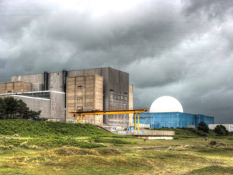 Sizewell nuclear power station in Suffolk: Sizewell A on the left and Sizewell B on the right. Photo: Mark Seton via Flickr (CC BY-NC).