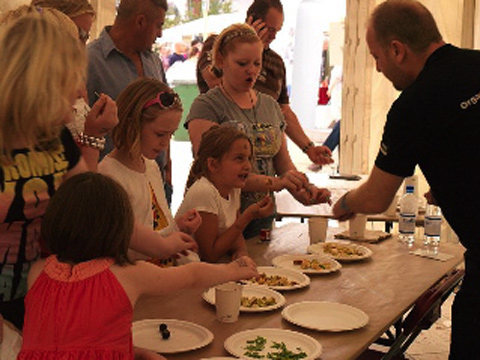 Kids' Taste Tent at the Organic Food Festival