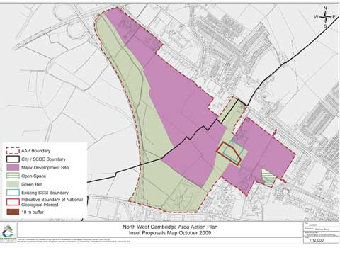 North West Cambridge inset proposals map