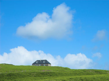 Isolated house on Isle of Eigg