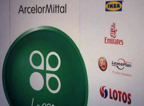 Corporate logos on show at COP19.