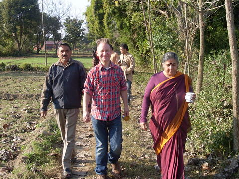 Vandana Shiva touring Navdanya Farm. Photo: Edward W. Lollis.