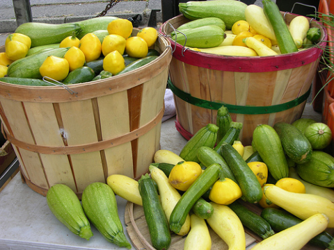 Vegetables at a farmers market. Photo: Socially Responsible Agricultural Project via Flickr.com.