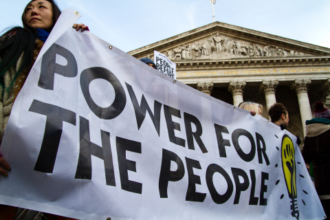 Power for the People demo, London. Photo: Robin Prime.