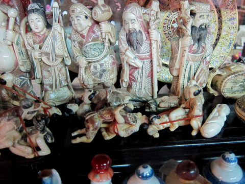 Ivory carvings depicting various sex acts on sale in Bangkok, November 2010. Photo: Thomas Quine via Flickr.com.