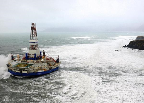 Shell drilling vessel in the Arctic. Photo: US Coastguard.
