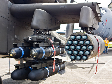 AGM-114 Hellfire Anti-Tank missiles and Hydra 70mm rockets. Photo: LH_Wong via Flickr.com.