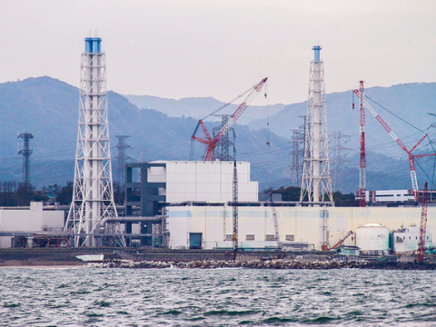 The damaged Fukushima Daiichi Nuclear Power Station as seen during a sea-water sampling boat journey, 7 November 2013. Photo: IAEA Imagebank via Flickr.com.