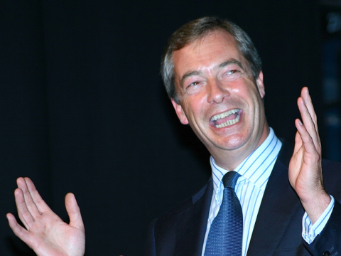 Nigel Farage has a lot to smile about - but do we? Photo: Derek Bennett via Flickr.com.