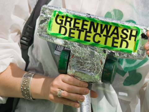 We could all do with one of these - the Greenwash Guerillas at the Business Design Centre, London, 2008. Photo: fotdmike via Flickr.com.