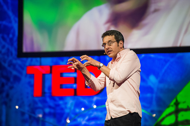 George Monbiot attempts to terrify his TED audience into loving nuclear power at TEDGlobal 2013 in Edinburgh, Scotland. June 12-15, 2013. Photo: TED Conference / James Duncan Davidson via Flickr.com.