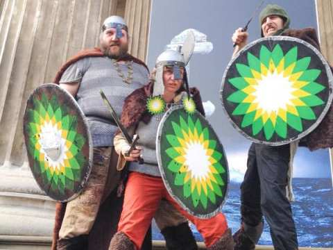 It's not the Vikings raping and pillaging at the British Museum - it's BP! Photo: Hugh Warwick.