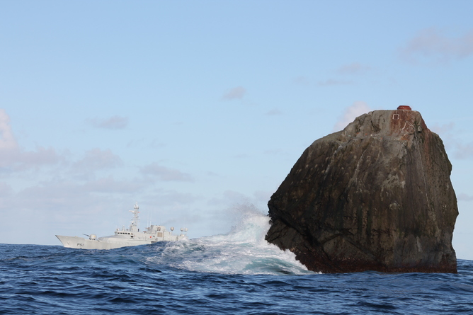 Deep sea fishing off Rockall is causing trouble down below. Photo: Irish Defence Forces, CC BY-SA.