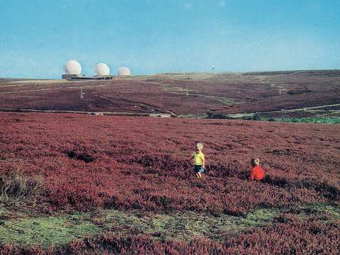 The nuclear threat has not gone away - indeed it may be rising. Fylingdales Early Warning station, UK - from a 1960's Colourmaster postcard. Photo: Futurilla via Flickr.com.