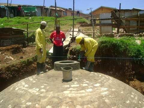 Biogas digester. This EcoSan pilot project was implemented at a prison in Meru for about 1.500 inmates and 350 staff. Photo: SuSanA Secretariat via Flickr.com.