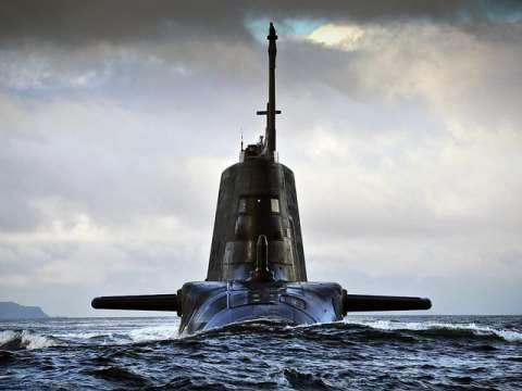Nuclear submarines already have 'small modular reactors'. So if they're so cheap, safe and efficient, why aren't they already in civilian use? Photo: HMS Ambush by UK Ministry of Defence via Flickr.