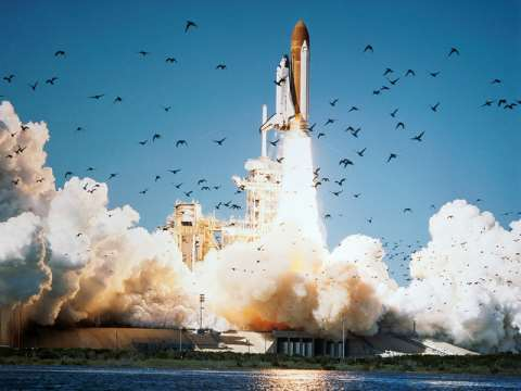 Looking good ... the Challenger space shuttle take-off on 28th January 1986. But 73 seconds later, it was all over.