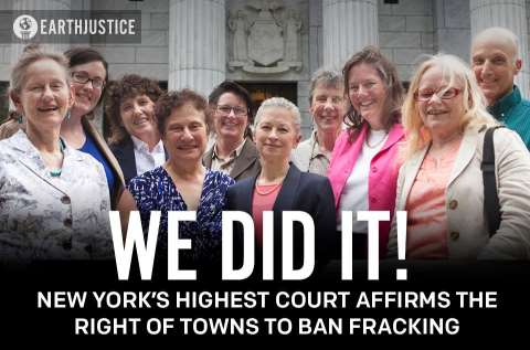 Dryden, New York - We did it! Photo: Earthjustice.