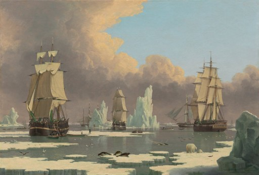 Oil painting by John Wood (1798-1849) of British whalers circa 1840. Photo: Lee and Juliet Fulger Fund  / Wikimedia Commons.