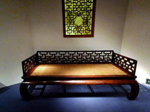 Antique furniture like this Ming era Ta couch in the Shanghai Museum has inspired thousands of 'hongmu' copies among China's rich - and the demand is devouring forests across Southeast Asia. Photo: Gisling via Wikimedia Commons.