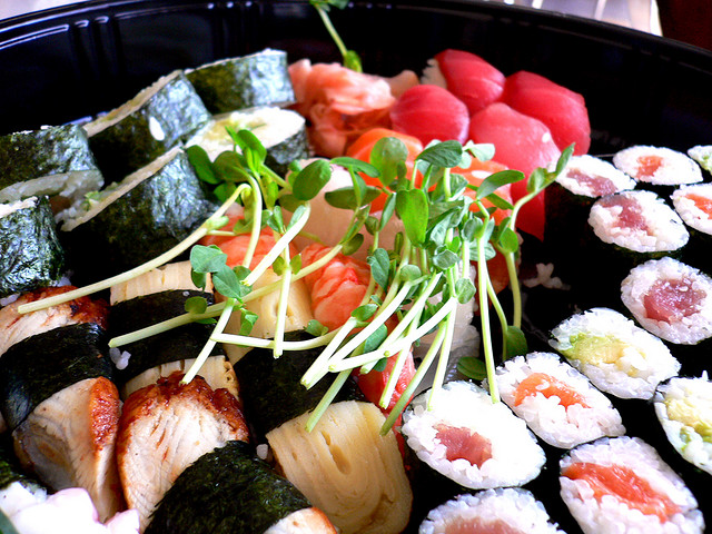 Mmmm, sushi ... but watch out for rising mercury levels in seafoodin the future, fallout from burning fossil fuels, coal in particular.