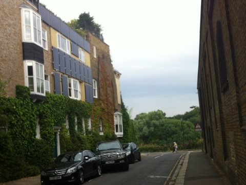 "These solar panels on a Chiswick back street are ""a clear & present threat to this and future generations"" - and that's official! Photo: Paula Owen."