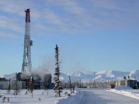 The Canada's Northwest Territories' first fracking project, carried out by ConocoPhillips over the winter in the NWT's Sahtu region, was approved last summer with no public review. Photo: ConocoPhillips.