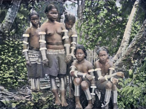 A group of Dayaks photographed on Borneo in 1910. The Indonesian government no longer recognises the People as 'indigenous', which may rob modern day Dayaks of protection against World Bank financed development projects.