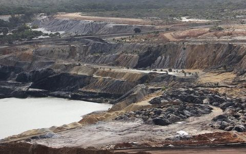 About half the world's coal is being produced at a loss, as buyers turn away. ALCOA Anglesea coal mine, Australia. Photo: Takver via Flickr.