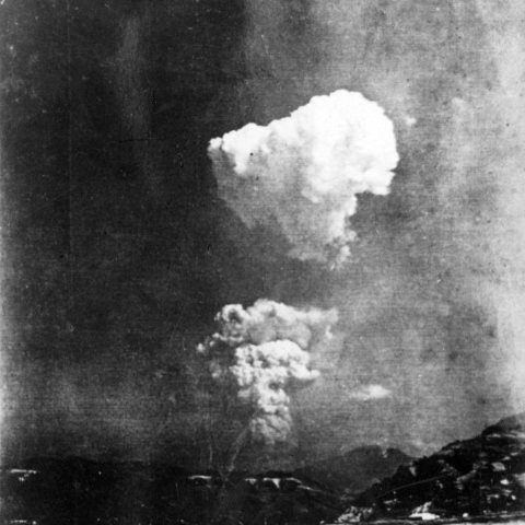Picture found in Honkawa Elementary School in 2013 of the Hiroshima atom bomb cloud, believed to have been taken about 30 seconds after detonation of about 10km (6 miles) east of the hypocentre. Photo: Honkawa Elementary School / Wikimedia Commons.