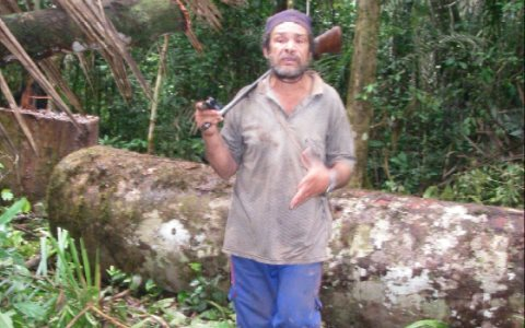 Denounced to the police for illegal logging, but no action taken - Señor Adeuzo Mapes Rodríguez, aka 'Capelon'.