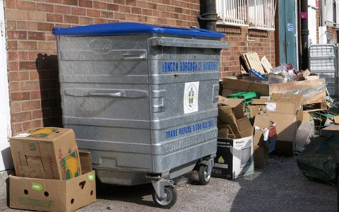 EU drops plans to push up recycling rate to 70%. The back of an industrial estate in Romford, Essex. Photo: roadscum via Flickr.