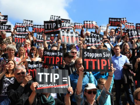 Stop TTIP protest in Germany. Photo: Stop TTIP.