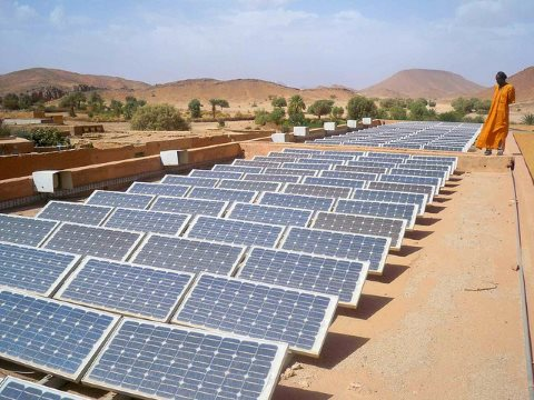 Smart countries are going for renewables - like Algeria, where these panels are located. Photo: Magharebia via Flickr (CC BY 2.0).