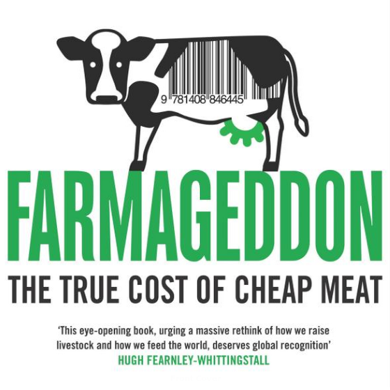 Front cover of Farmageddon, published by Bloomsbury.