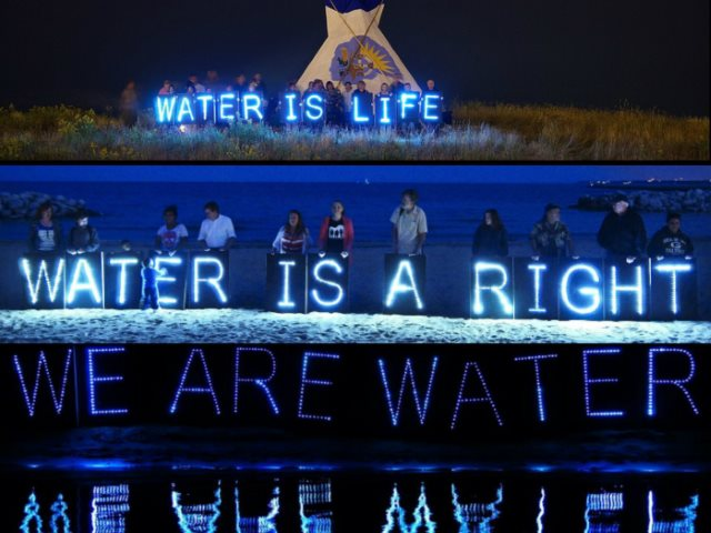 Water is Life! - Milwaukee in solidarity with those fighting water shutoffs in Detroit. Photo: OccupyRiverWest.com.