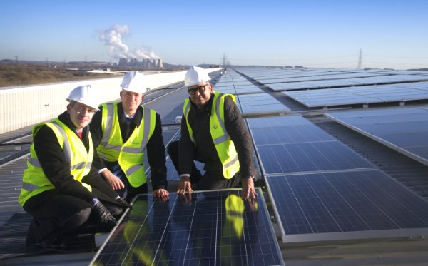 M&S's brand new 6MW solar array at its Castle Donington distribution centre is the largest roof-mounted system in the UK.