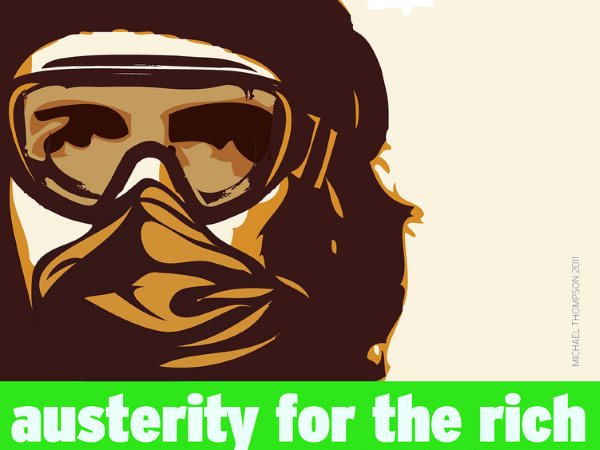 Austerity for the rich! Image: Michael Thompson via Flickr (CC BY-NC-SA).