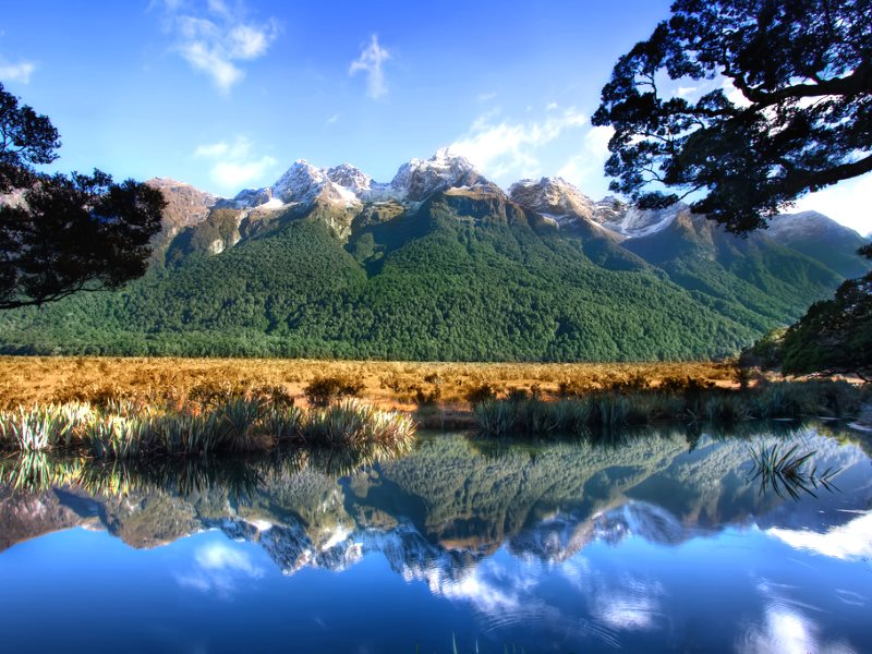Mirror Lake, Milford Sound, New Zealand. Photo: Chris Ford via Flickr (CC BY-NC).